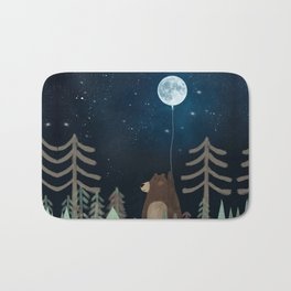 the moon balloon Bath Mat