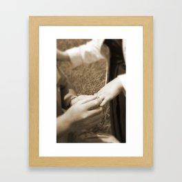 She said YES! Framed Art Print