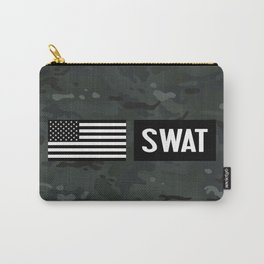 SWAT: Black Camouflage Carry-All Pouch