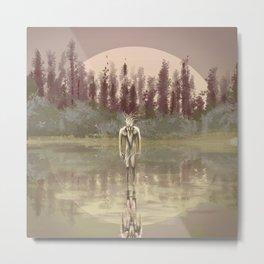 Tree spirit from the woods lake Metal Print
