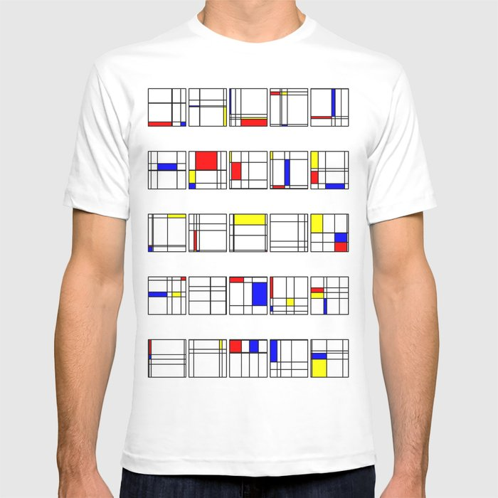"Math Art Digital Print - ""mondRian"" T-shirt"