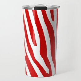 Red Zebra Travel Mug