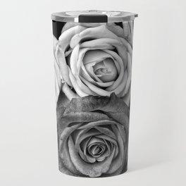 The Roses (Black and White) Travel Mug