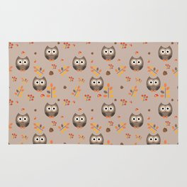Fall Owl Rug