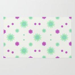 Stars Motif Multicolored Pattern Rug