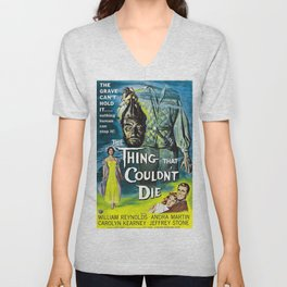 The Thing That Couldn't Die - Vintage Horror Movie Poster Unisex V-Neck