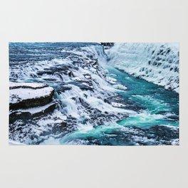 Gulfoss Waterfall Iceland Rug