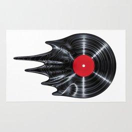 Melting vinyl / 3D render of vinyl record melting Rug