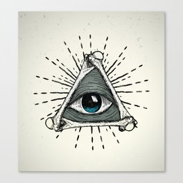 All Seeing Eye Canvas Print