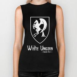 White Unicorn Biker Tank