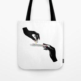 Flower roll / Illustration Tote Bag