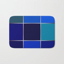 Cobalt , patchwork Bath Mat