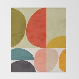 shapes of mid century geometry art Throw Blanket