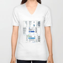 Drug Labels Unisex V-Neck