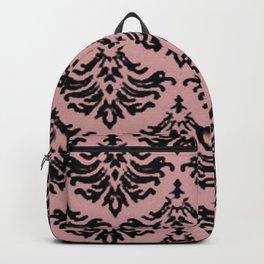 Vintage Damask Brocade Bridal Rose Backpack
