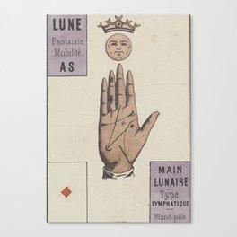 Vintage French Moon Tarot Card Canvas Print