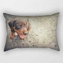 funny puppy Rectangular Pillow