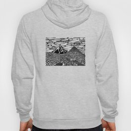Mountain Block Print Hoody