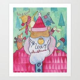 Family Christmas Art Print