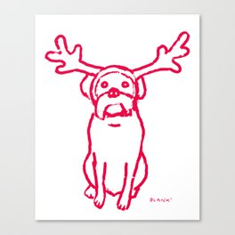 Scamp The Reindeer Dog Canvas Print