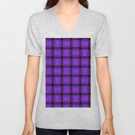 Large Violet Weave Unisex V-Neck