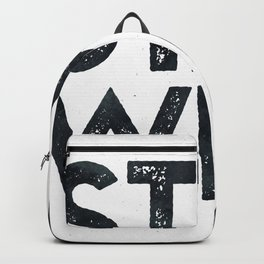 STAY WILD Vintage Black and White Backpack