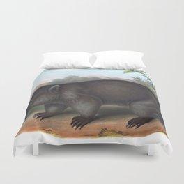 Wombat in the nature of Australia Duvet Cover