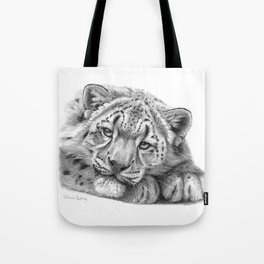 Snow Leopard Cub G105 Tote Bag