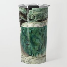 Vintage Mineralogy Illustration Travel Mug