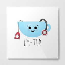 EM-Tea Metal Print