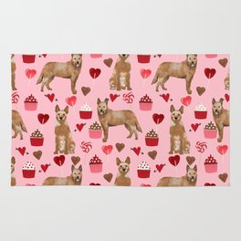 Australian Cattle Dog red heeler valentines day cupcakes hearts love dog breed gifts Rug