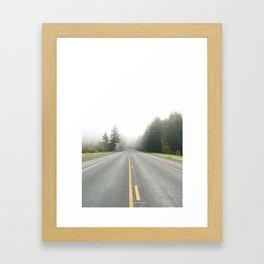 Foggy Oregon Road Framed Art Print