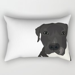 Atticus the Pit Bull Rectangular Pillow