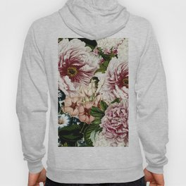 Vintage Peony and Ipomea Pattern - Smelling Dreams Hoody