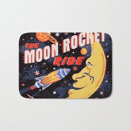 Rocket Moon Ride (vintage) Bath Mat