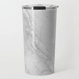 Marble Love Silver Metallic Travel Mug