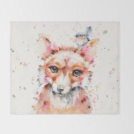 Little Fox Throw Blanket