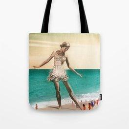 Vintage Beah Girl Tote Bag