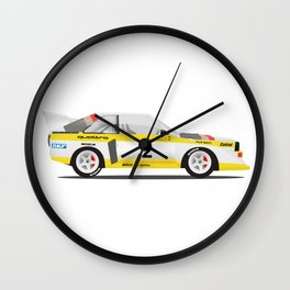 Rally Car Quattro Group B Wall Clock