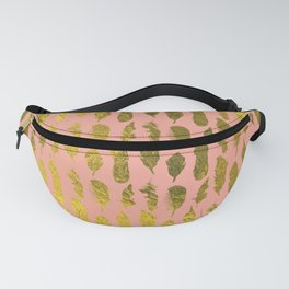 Feather in Gold and Pink Fanny Pack