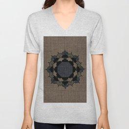 Lotus Mandala on Fabric Unisex V-Neck