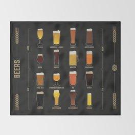 Beer Guide Throw Blanket