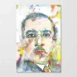 IGOR STRAVINSKY - watercolor portrait.1 Canvas Print