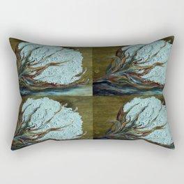 Four Square Cotton Rectangular Pillow