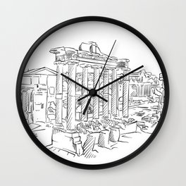 Ancient Rome roman forum Wall Clock