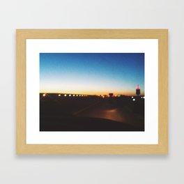 Cruising highways Framed Art Print