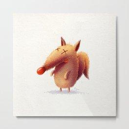 Monday fox Metal Print