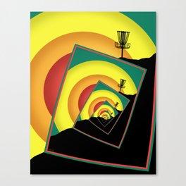 Spinning Disc Golf Baskets 3 Canvas Print