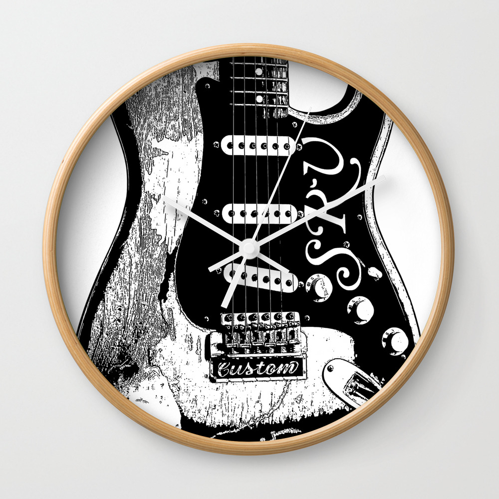 Stevie Ray Vaughan - Guitar-blues-rock-legend Wall Clock by Amadeumarques CLK9003508