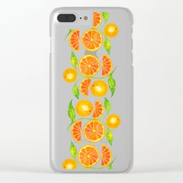 Juicy Grapefruits Clear iPhone Case